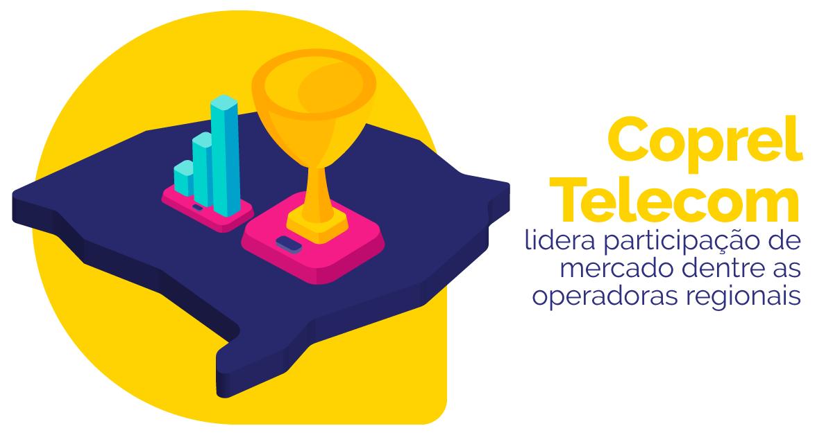 Coprel Telecom lidera participação de mercado dentre as operadoras regionais