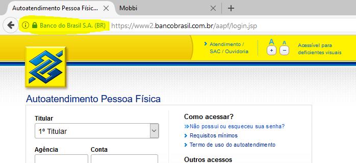 firefox banco do brasil