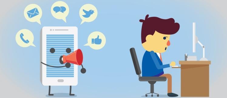 redes sociais e distrações