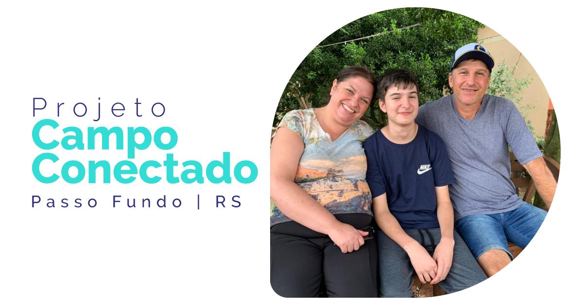 Projeto Campo Conectado: parceria entre Coprel Telecom e prefeitura de Passo Fundo entrega internet para a primeira família